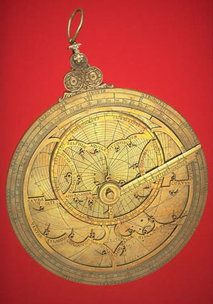 Brass astrolabe once belonging to Galileo