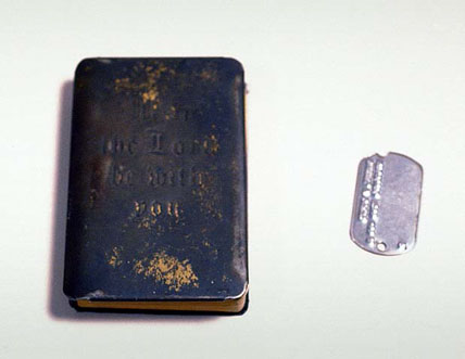Soldier's pocket Bible with black cover