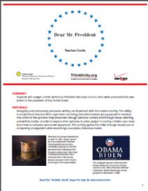 Thumbnail image of Dear Mr. President resource