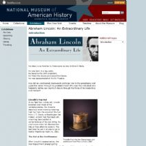Thumbnail image of Abraham Lincoln: An Extraordinary Life Homepage