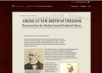 Thumbnail image of America's New Birth of Freedom: Documents from the Abraham Lincoln Presidential Library and Museum resource
