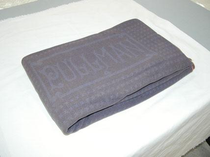 Blue wool Pullman Porter's blanket