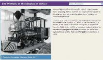 Thumbnail image of Hawaiian Plantation Locomotive, Olomana resource
