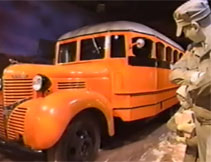 Image of orange school bus for the Creating Stories: America on the Move Electronic Field Trip, Part 2 resource