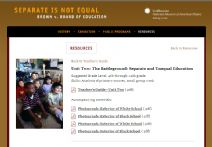 Thumbnail image of Brown v. Board of Education: Separate and Unequal Education Lesson resource