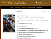 Thumbnail image of Brown v. Board of Education: Achieving Equality Lesson Plan resource