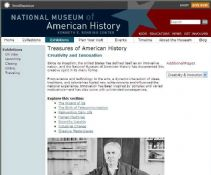 Thumbnail image of Treasures of American History: Creativity and Innovation resource
