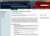 Thumbnail image of Treasures of American History: American Biography resource