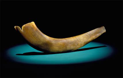 Ram's horn shofar made in Germany