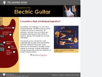 Thumbnail image of The Invention of the Electric Guitar resource