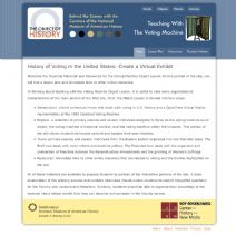 Thumbnail image of History of Voting in the United States: Create a Virtual Exhibit resource