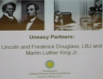 Thumbnail image of Uneasy Partners: Lincoln and Frederick Douglass, LBJ and Martin Luther King, J.r. Lecture Video resource