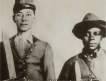 Black and white image of two Civil War soldiers for the First Person Account: William Christie resource