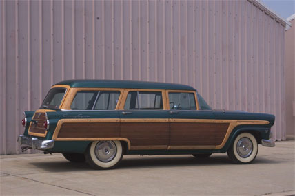 1955 Ford Country Squire Station Wagon with wooden siding