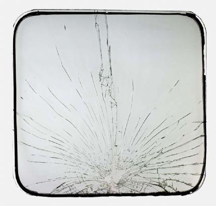 Broken School Bus Window from Boston School Desegregation