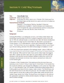 Thumbnail image of the Cuban Missile Crisis lesson plan resource