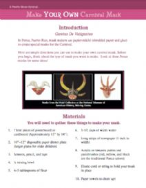 Thumbnail image of Make Your Own Carnival Mask resource