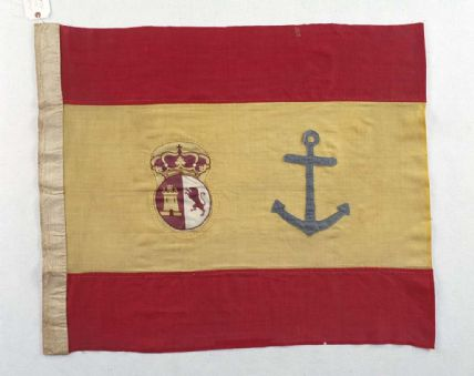 Spanish flag made of linen