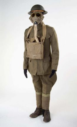 Brown wool Doughboy uniform