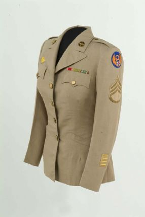 Khaki women's jacket worn during the Second World War