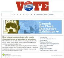 Thumbnail image of Vote: The Machinery of Democracy homepage