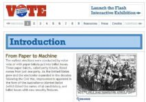 Thumbnail image of Introduction to Vote: The Machinery of Democracy resource