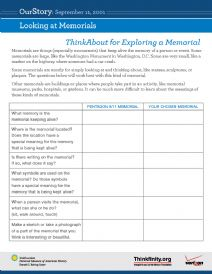 Thumbnail image of Looking at Memorials resource