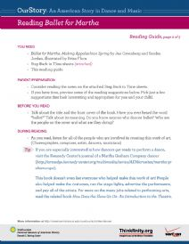 Thumbnail image of Reading Ballet for Martha resource