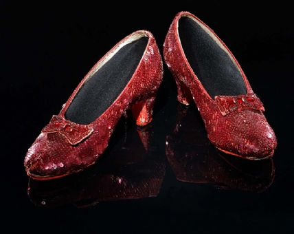 Red, sparkly slippers from The Wizard of Oz