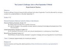 Thumbnail image of the Curator's Challenge: Life in a Post-September 11 World resource