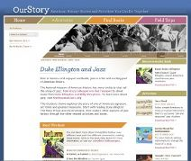 Thumbnail image of Duke Ellington and Jazz Homepage resource