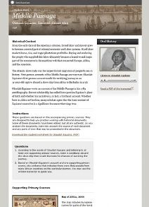 Thumbnail image of Middle Passage: Olaudah Equiano, Enslaved African Man resource