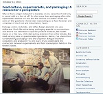 Thumbnail image of Blog Post: Food Culture, Supermarkets and Packaging resource