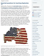Thumbnail image of Blog Post: Essential Questions for Teaching September 11 resource