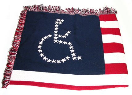 Red, white and blue Universal Access Flag Lap Blanket