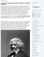 Thumbnail image of Blog Post: Frederick Douglass: Orator, Activist, and Bad, Bad Man resource