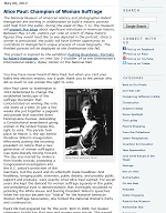 Thumbnail image of Blog Post: Alice Paul: Champion of Woman Suffrage resource