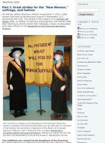 "Thumbnail image of Blog Post: Part I: Great Strides for the ""New Woman,"" suffrage, and fashion resource"