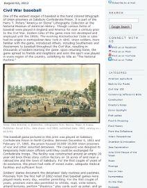 Thumbnail image of Blog Post: Civil War baseball resource