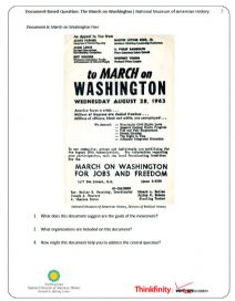 Thumbnail image of March on Washington DBQ resource
