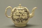 Ceramic creamware Stamp Act teapot
