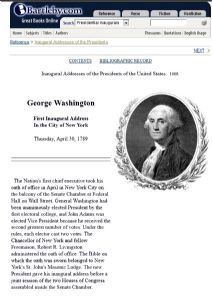 Thumbnail image of Inaugural Addresses of the Presidents resource