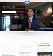 Thumbnail image of the Official Website of the White House resource