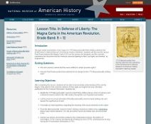 Thumbnail image of In Defense of Liberty:  The Magna Carta in the American Revolution resource