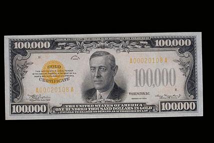 1930s $100,000 U.S. Gold Certificate   Smithsonian\'s History Explorer