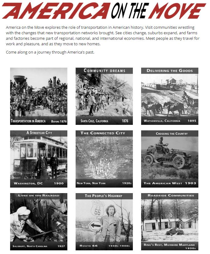 Thumbnail image of America on the Move Homepage resource
