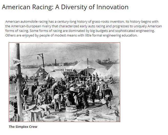 Thumbnail image of American Racing: A Diversity of Innovation resource