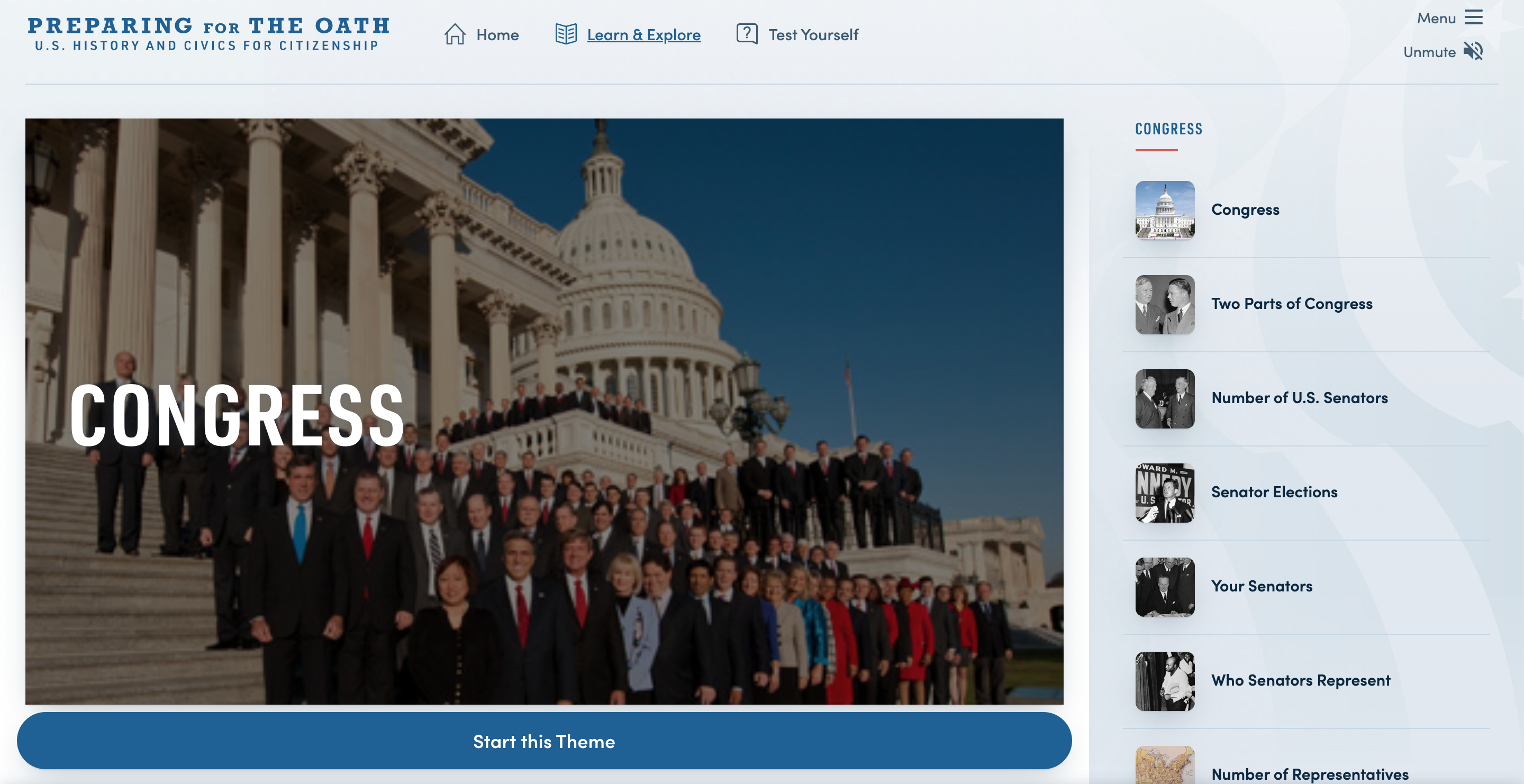 Thumbnail image of Preparing for the Oath: Congress resource