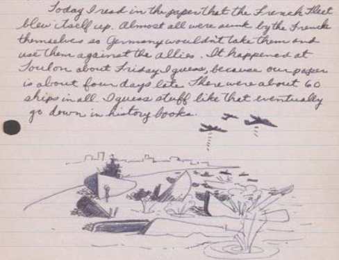 Image of an entry in Stanley Hayami's diary