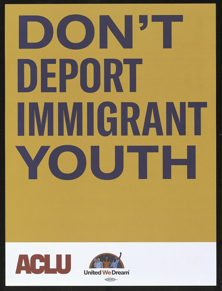 ACLU yellow poster